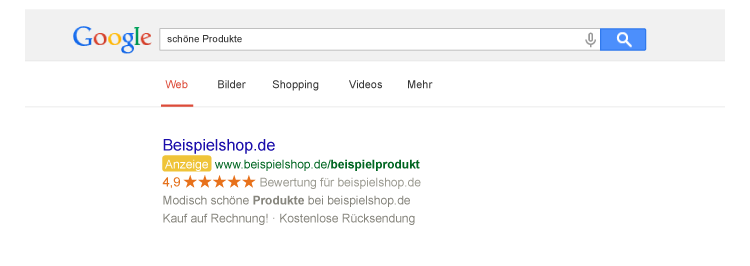 Beispiel Trusted Shops
