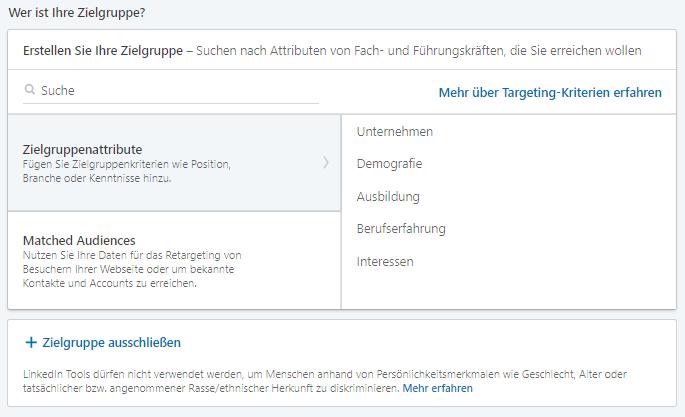 linkedin_zielgruppenoptionen