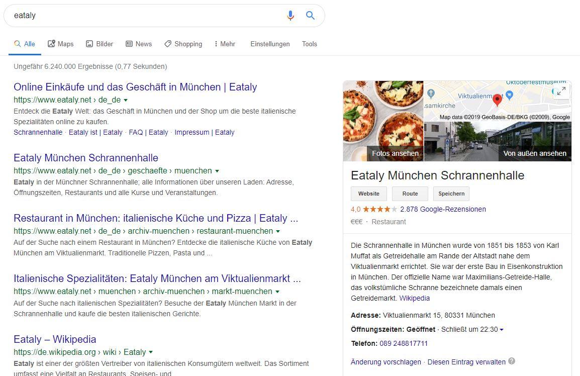 Brandsuche und Google My Business